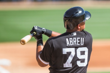 GLENDALE, AZ - MARCH 03: Jose Abreu #79 of the Chicago White Sox bats during a spring training game against the Los Angeles Dodgers at Camelback Ranch on March 3, 2016 in Glendale, Arizona. (Photo by Rob Tringali/Getty Images)